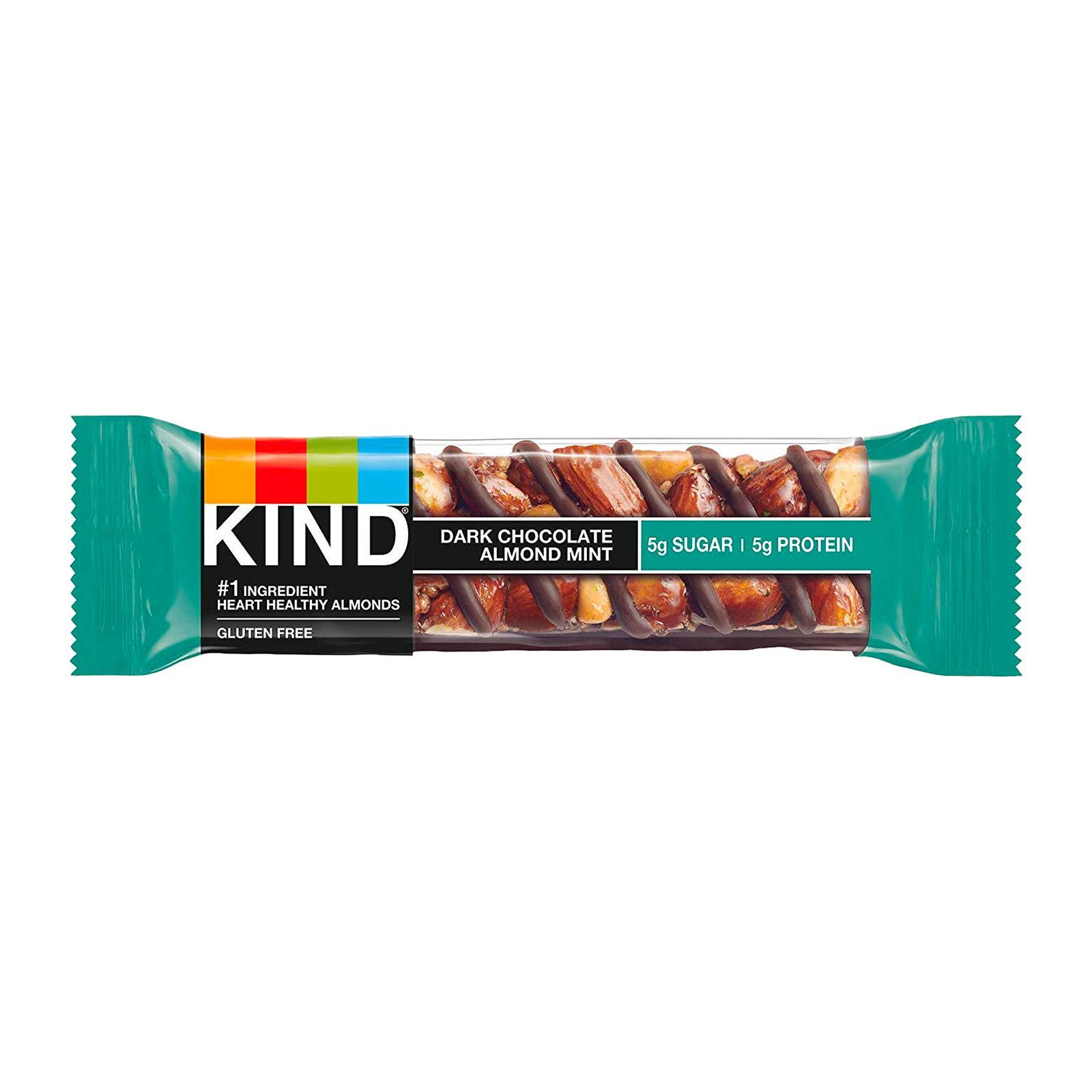 KIND Fruit and Nut Dark Chocolate Almond and Mint Bar - By Wholesome Harvest