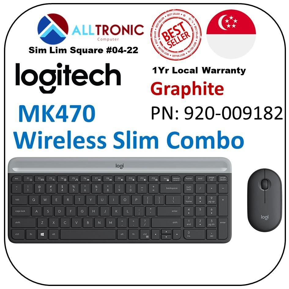 Logitech MK470  Slim Wireless Keyboard and Mouse Combo /Singapore Authorized  Graphite/Off white Singapore