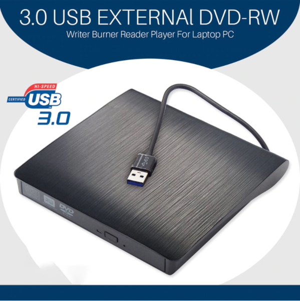 External DVD Drive USB3.0 Portable CD DVD RW Drive Writer Burner
