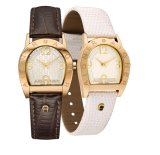 Sale Aigner Asti Due Brown And Cream Leather Strap Watch Online Singapore