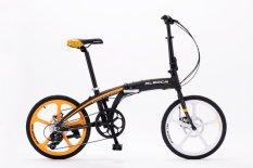 Aleoca 20 8 Speed Tasso Di Blocco Folding Bike (black/orange) By Aleoca Pro Singapore.