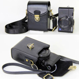 Anti Shock Hard Skin Shoulder Bags Pu Leather Camera Case For Canon Powershot G9X G7X G7X Mark Ii S120 Sx600 Ixus 275 G16 Sx710 Sx700 Black Lower Price
