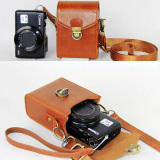 Get The Best Price For Anti Shock Hard Skin Shoulder Bags Pu Leather Camera Case For Canon Powershot G9X G7X G7X Mark Ii S120 Sx600 Ixus 275 G16 Sx710 Sx700 Brown
