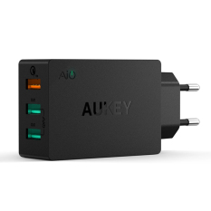 Store Aukey Pa T2 42W 3 Port Usb Wall Charger W Qualcomm Qc 2 Aipower Adaptive Charging Technology Black Export Aukey On Singapore