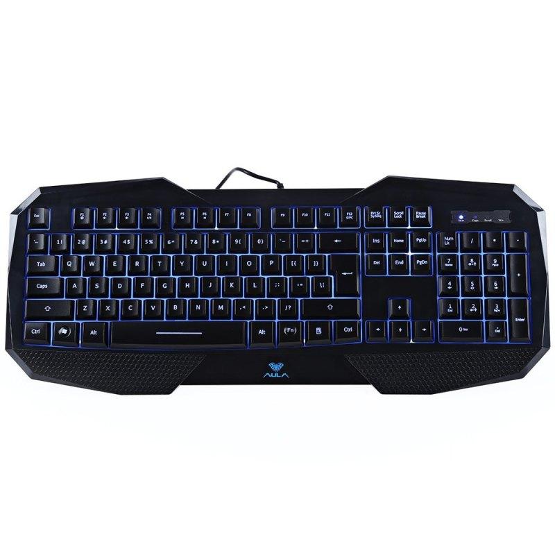 AULA Ergonomic LED Backlight Gaming Keyboard with 3-Color Light Singapore