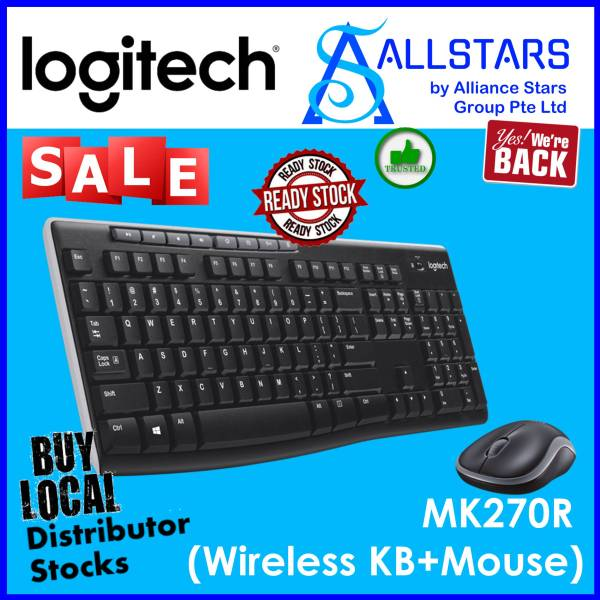 (ALLSTARS : We are Back / Keyboard & Mouse Promo) Logitech MK270R Wireless Combo (920-006314) (Warranty 3years with BanLeong) Singapore