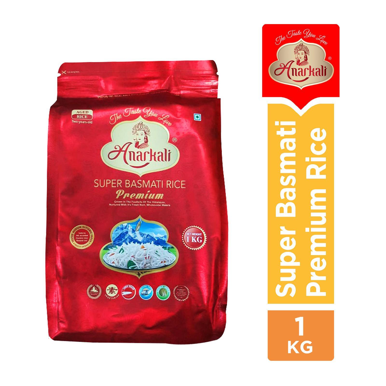 Anarkali Super Basmati Premium Rice 1 Kg Pakistan