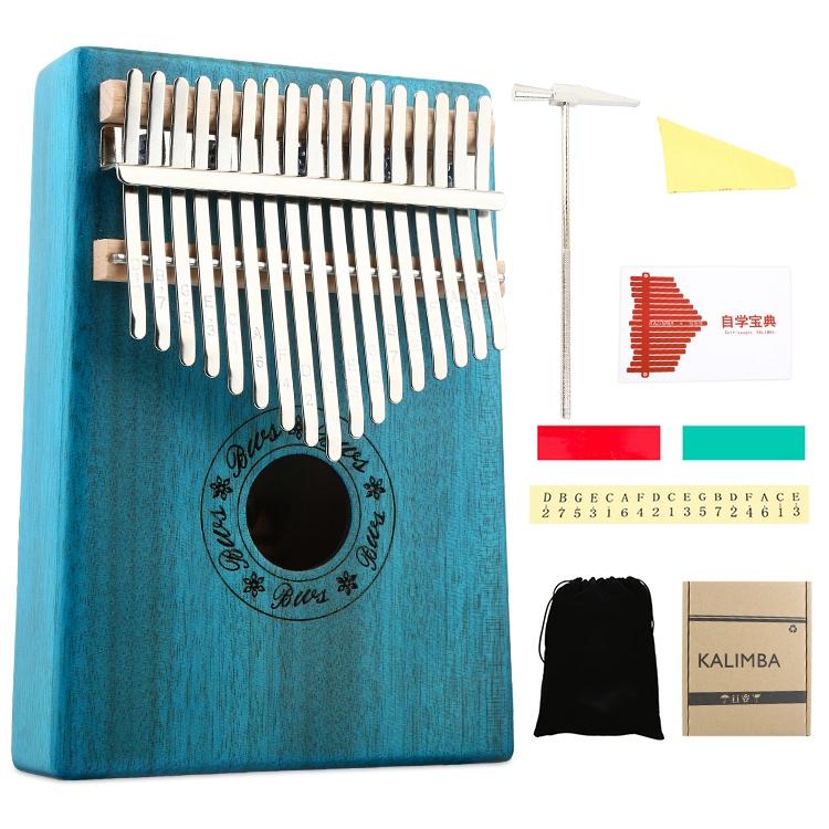 17 Keys Kalimba Mahogany Thumb Piano Musical Instruments Mbira Kalimba with Learning Book Tune Hammer