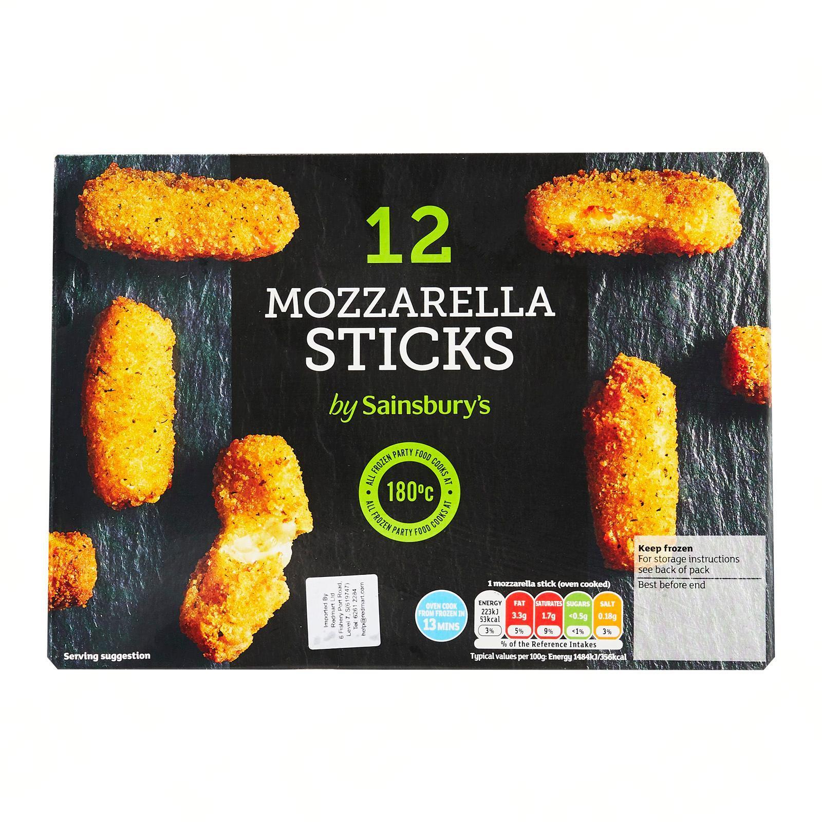 Sainsbury's Mozzarella Cheese Sticks - Frozen
