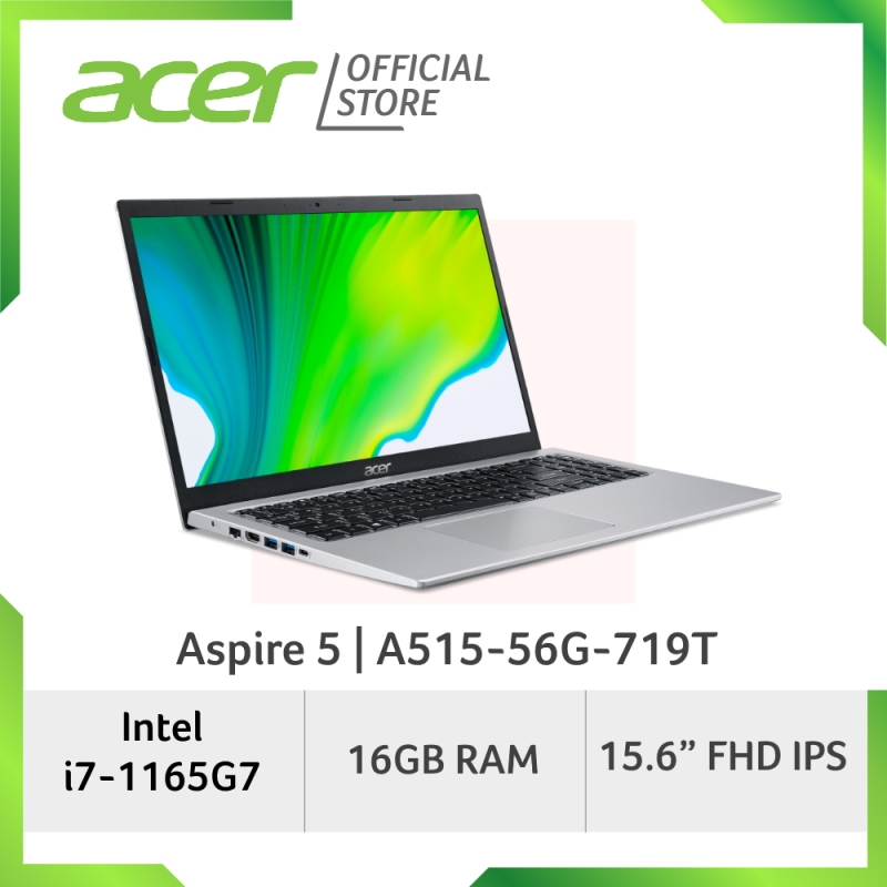 [NEW MODEL] Acer Aspire 5 A515-56G-719T - 15.6 FHD Laptop with Latest 11th Gen Intel Core I7-1165G7 Processor and 16GB RAM