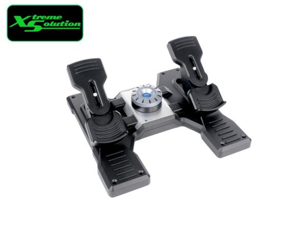 LOGITECH FLIGHT RUDDER PEDALS PROFESSIONAL SIMULATION RUDDER PEDALS WITH TOE BRAKE Singapore