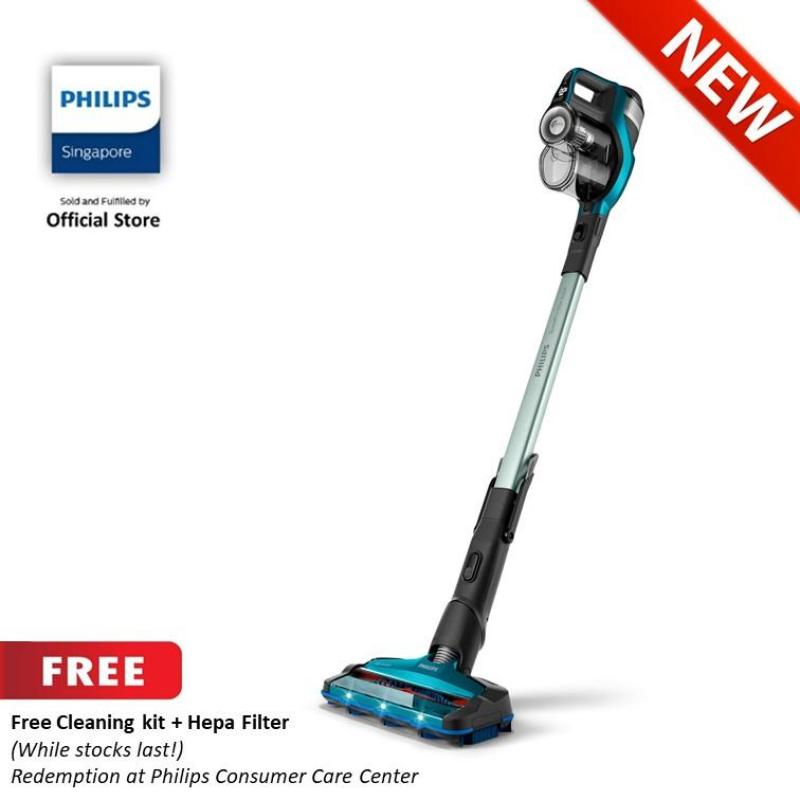 Free Cleaning kit + Hepa Filter (While stocks last!) (Redemption at Philips Consumer Care Center )With Philips SpeedPro Max Aqua Cordless Stick Vacuum Cleaner - FC6904/61 Singapore