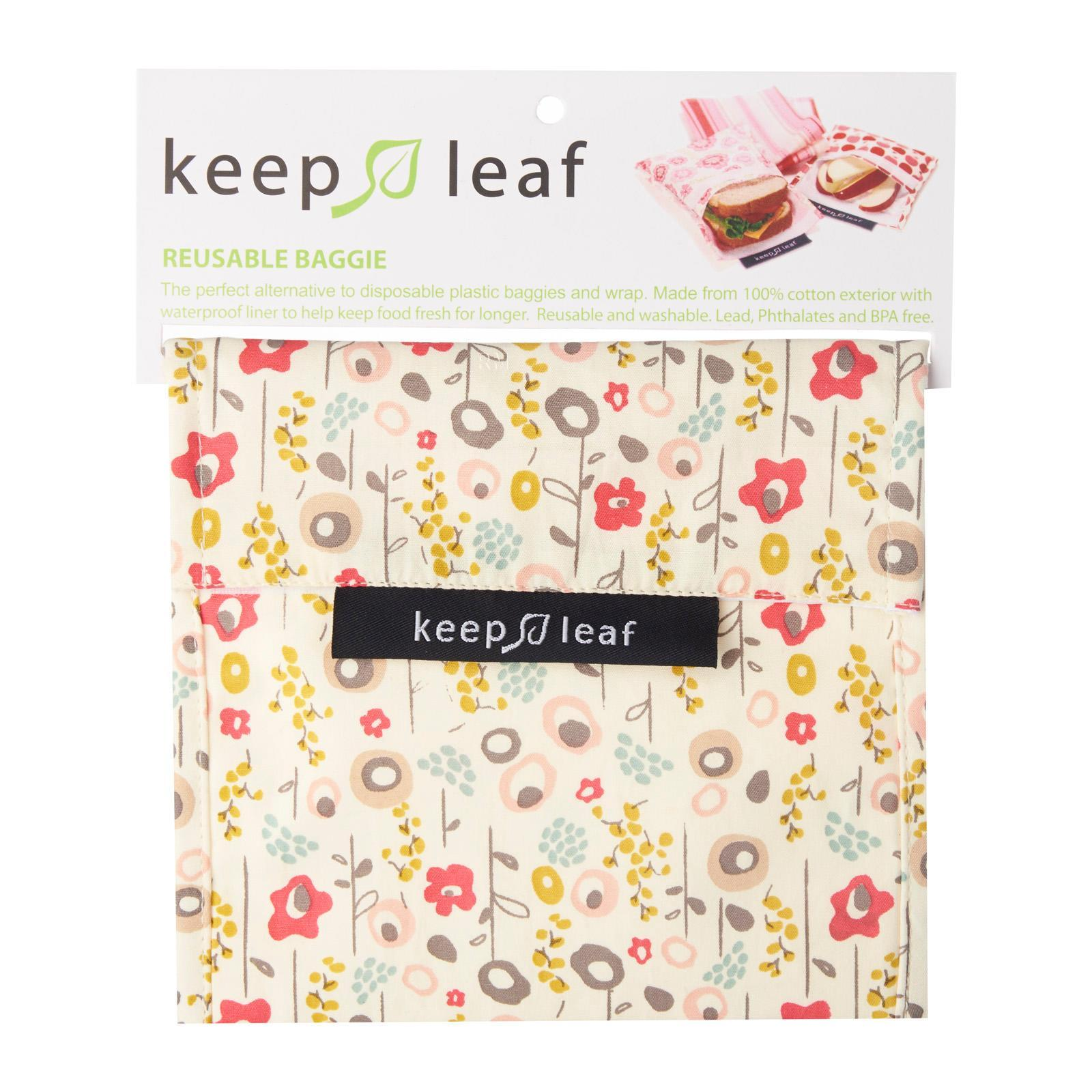 Keep Leaf Reusable Snack Bag (Large) - Bloom Design Sandwich Bag