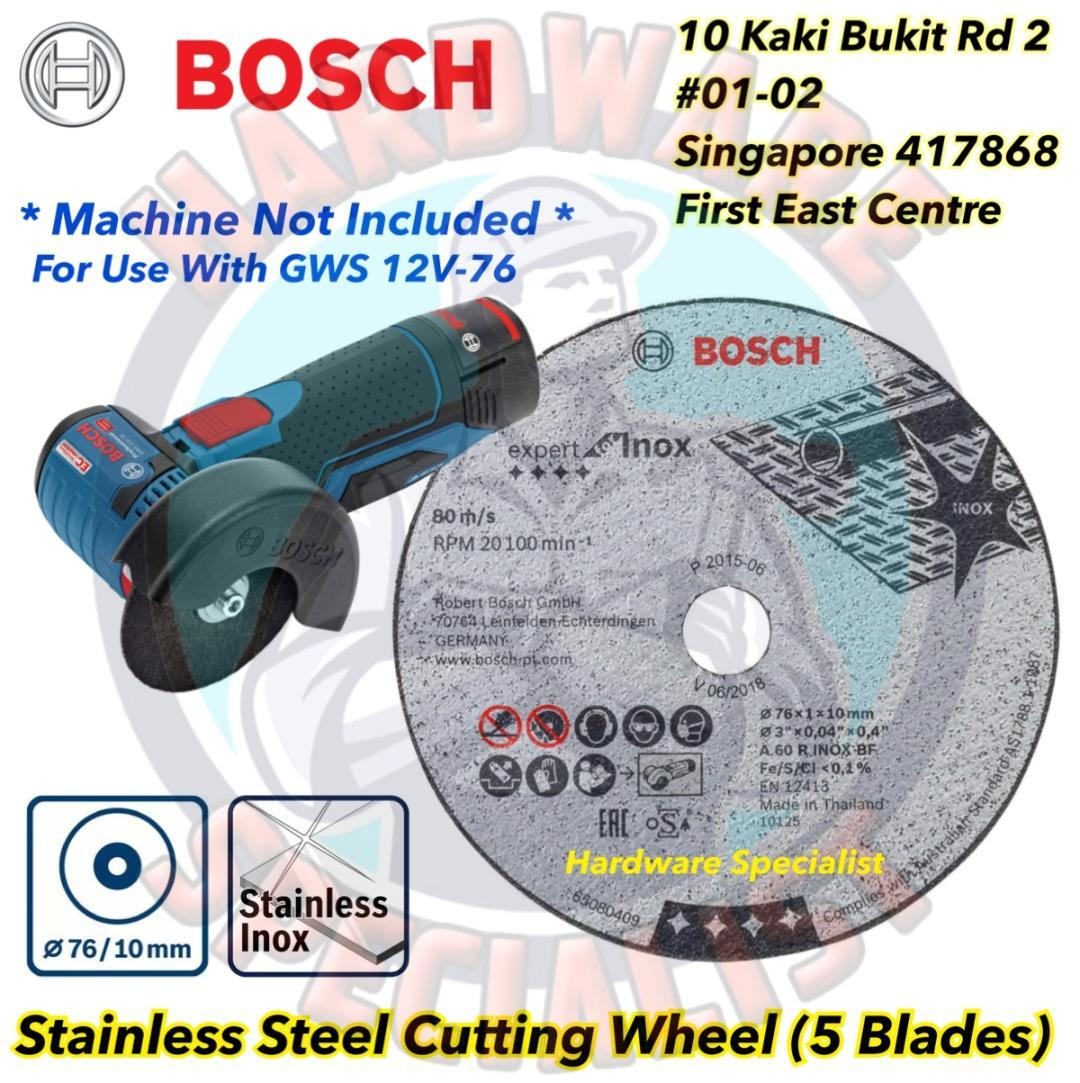 Bosch Stainless Steel Cutting Blade For Angle Grinder GWS 12V-76 (Bosch 2608601520)