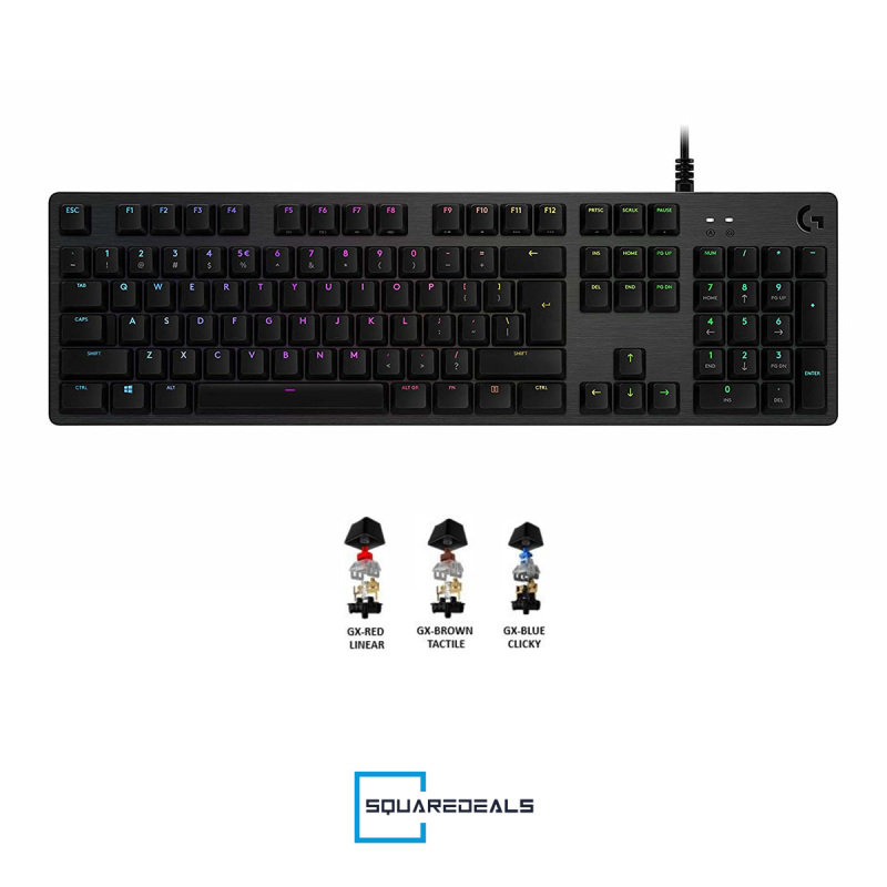 Logitech G512 LIGHTSYNC RGB Mechanical Gaming Keyboard GX All Models Singapore