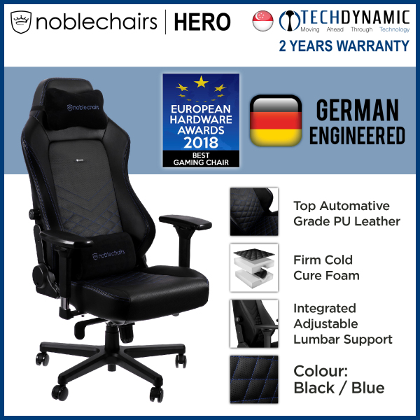 Noble Chairs Gaming Chair PU Leather HERO Series [Available in 5 colors] [To be delivered within 1 week from order date]