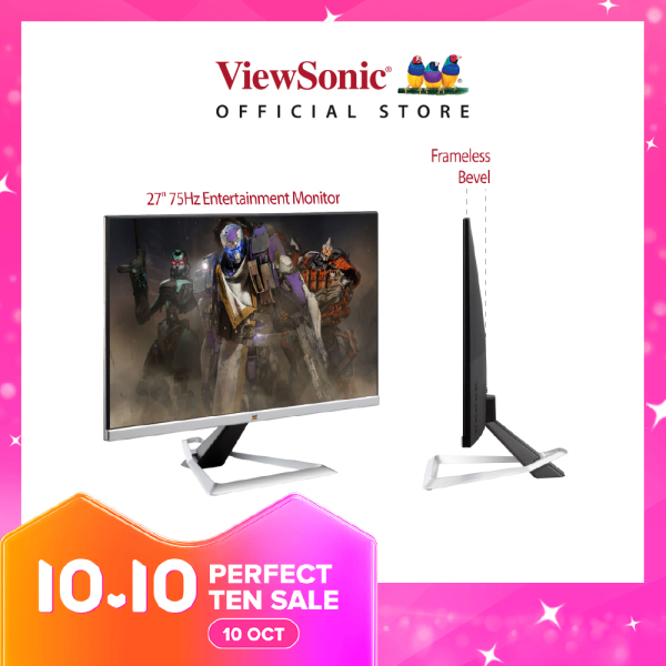 [Built in speakers] ViewSonic VX2781-MH 27 Bezel-less 75Hz 1ms freesync Gaming and Home office Monitor with dual HDMI and inbuild speakers (HDMI cable included)