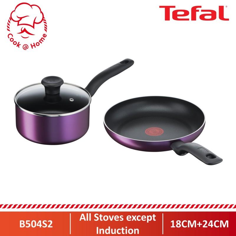 Tefal Cooking Source 3pc Set (FP24cm+SP18cm w/lid) B504S2 Singapore