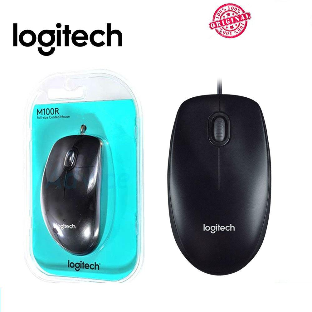 Original Logitech Wired Optical Mouse M100R with Serial Number for International Warranty - Deliver by Singpost