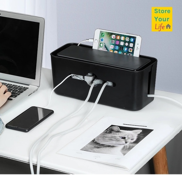 ◆Local seller◀Cable storage box organizer cable box management safety computer wire box