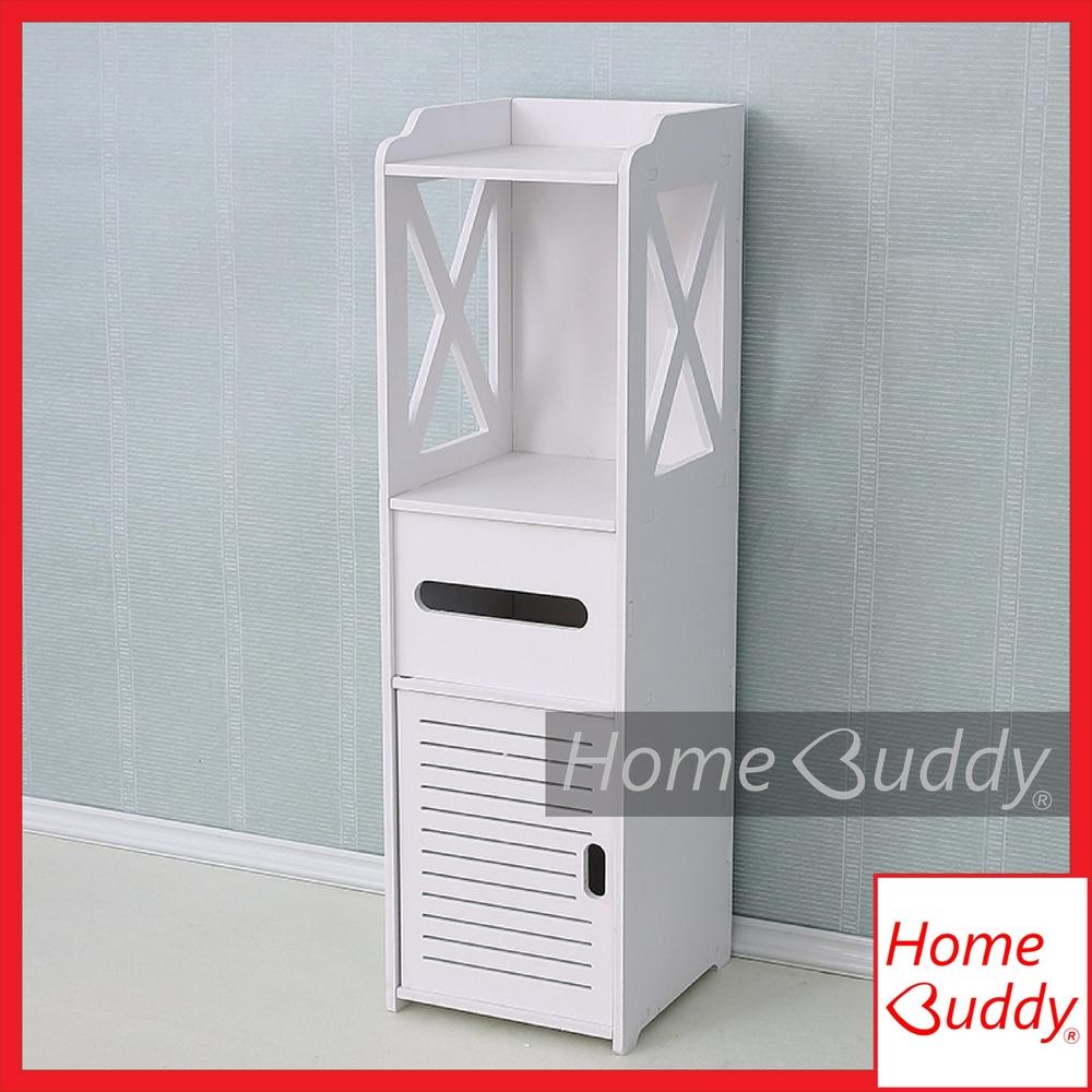 Bedside Cabinet Storage Rack/ Bathroom Storage Rack [LARGE 80 x 22 x 20cm height x width x depth]_ READY Stocks SG. Reach you 2 to 4 work days_ HomeBuddy_ Acev Pacific_ bedroom organizer rack table/ bathroom organizer