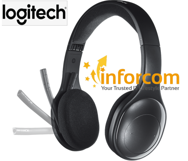 Logitech H800 Fold & Go Bluetooth Wireless Headset with Noise Cancelling Microphone and On-ear Headphones ( H600 H540 H390 Play Games Music Business Office Work From Home, School Home Based E Learning, Audio Video Call Web Conferencing ) Singapore