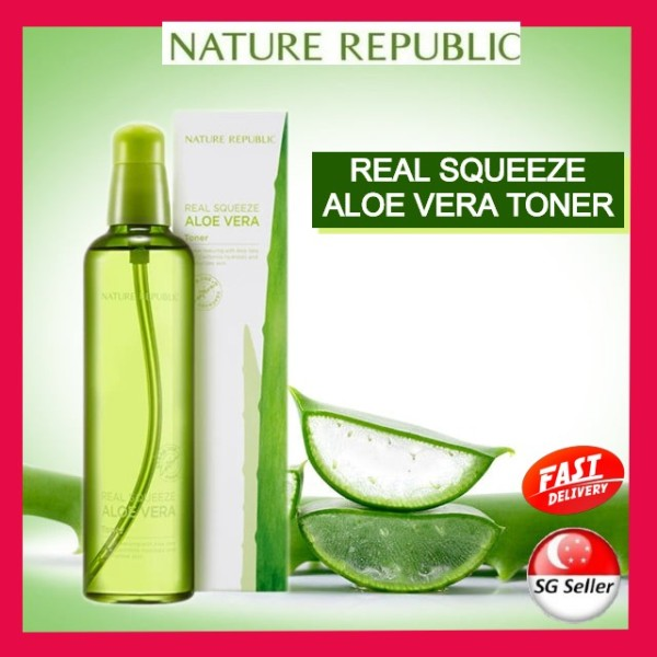 Buy Nature Republic Real Squeeze Aloe Vera Toner - SG Stock- Toner cure scars and blemishes-Fast delivery Singapore