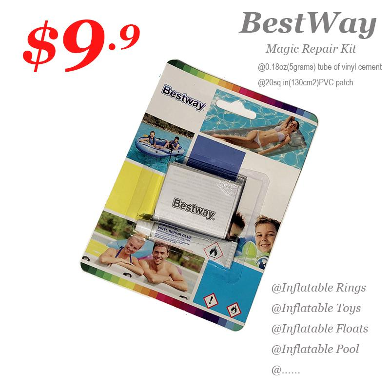 Bestway Magic Repair Kit 5grams+130cm2 for swimming floats,rings*Inflatable Boats*Inflatable Mattress