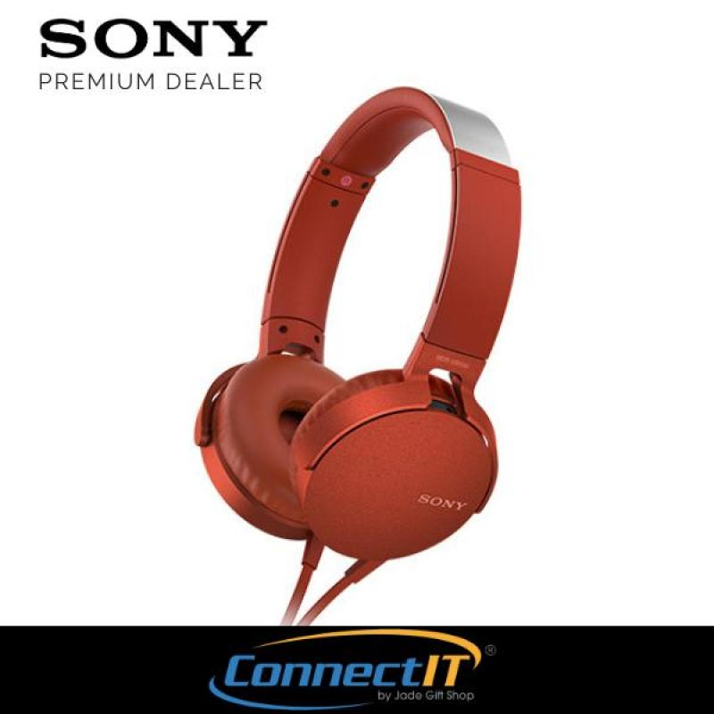 Sony Singapore Extra Bass MDR-XB550AP On-Ear Headphones With Mic and In-Line remote controls For Smartphones 1 Year Local Warranty Singapore