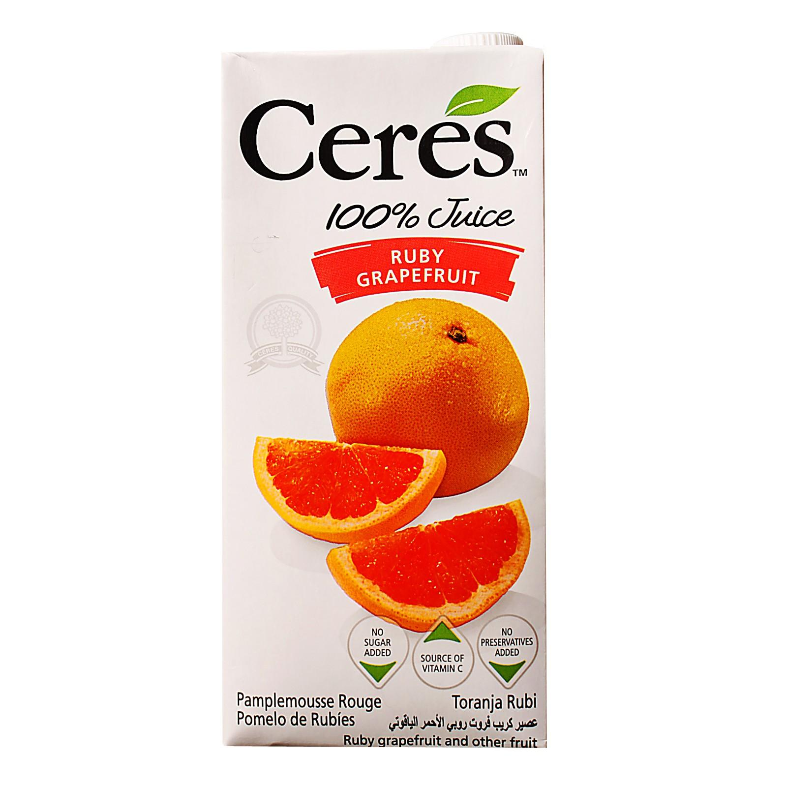 CERES Ruby Grapefruit 100% Juice Blend 1L