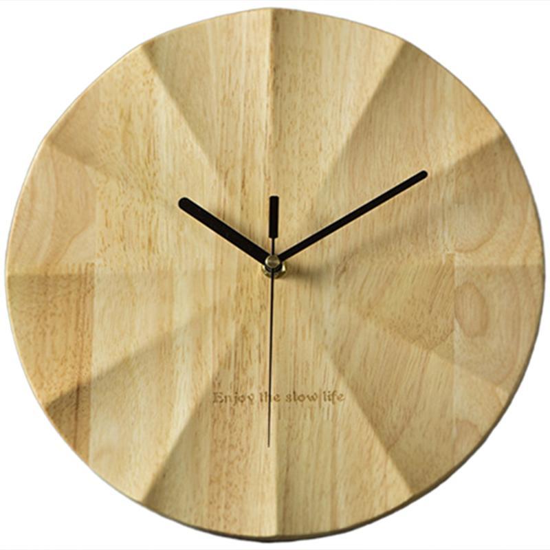 Retro Simple Wood Wall Clock Nordic Living Room Decorated Bedroom Creative Modern Mute Clock Art Modern Clocks Home Decor