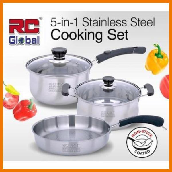 RC-Global Stainless Steel Cookware sets / Cooking Pot / Frying pan / Frying Wok / Soup pot Set Singapore