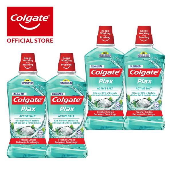 Buy Colgate Plax Active Salt Mouthwash 1L [Bundle of 4] Value Deal (1525680-4) Singapore