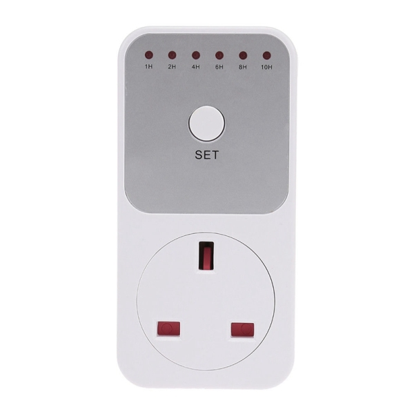 Smart Control Countdown Timer Switch Plug-In Socket Auto Shut Off Outlet Uk Plug