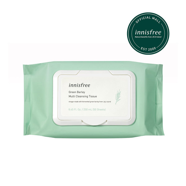 Buy innisfree Green Barley Multi Cleansing Tissue (50 Sheets) Singapore