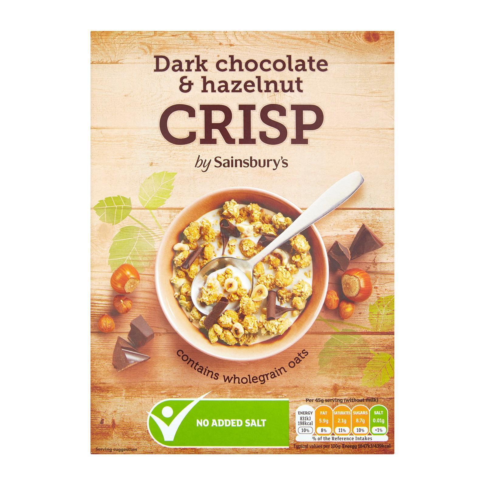 Sainsbury's Dark Chocolate And Hazelnut Granola