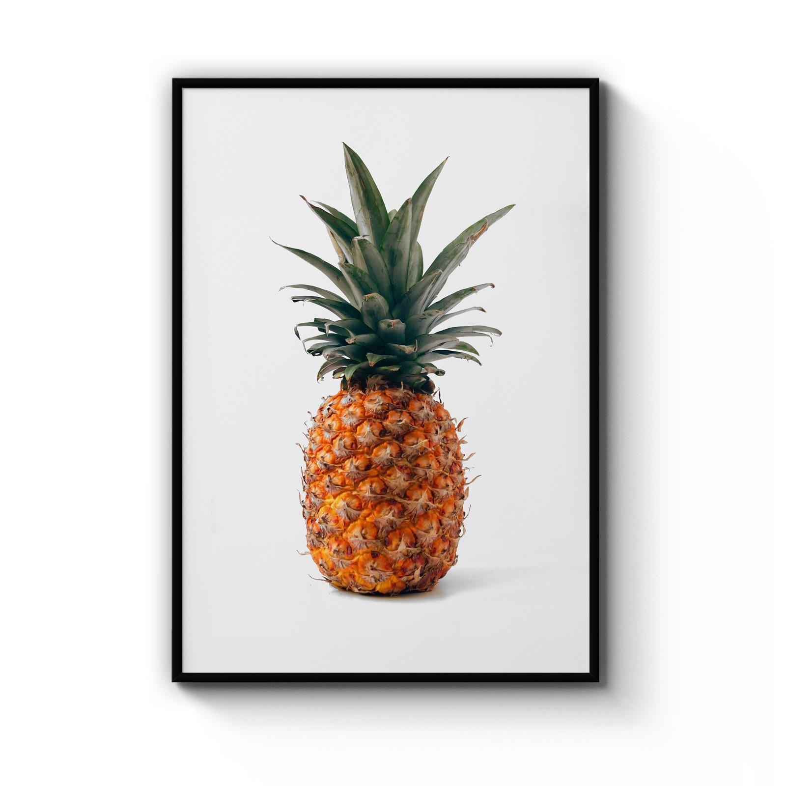 Minimal Pineapple Photograph Kitchen Decor Art Print Poster Size A4 - A0