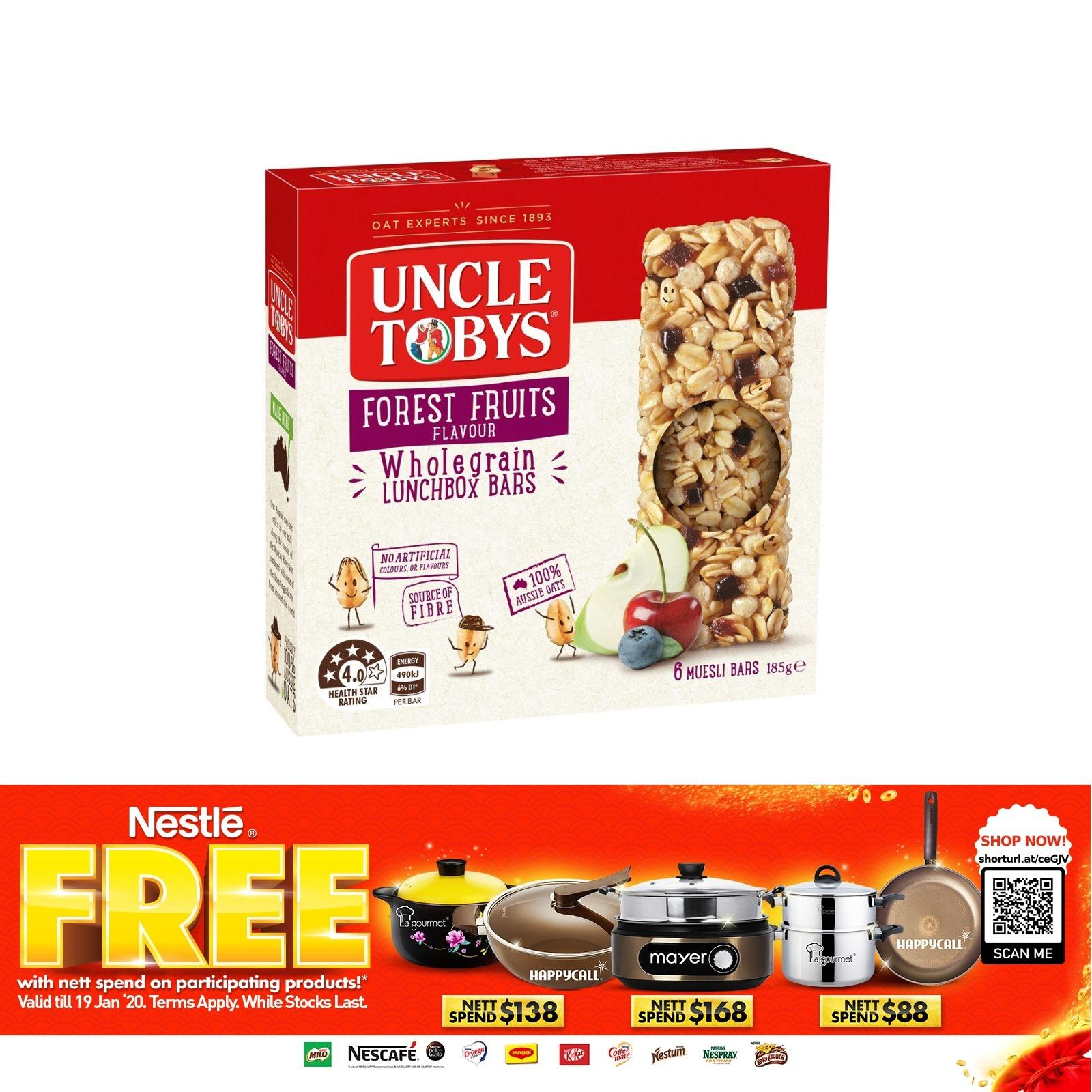 Uncle Toby's Chewy Forest Fruits Muesli Bar 185G