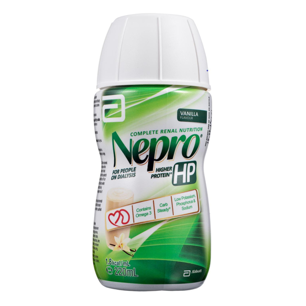Buy Abbott Nepro HP, 220ml/bot, Carton of 30s, high volume of protein for patients on dialysis Singapore
