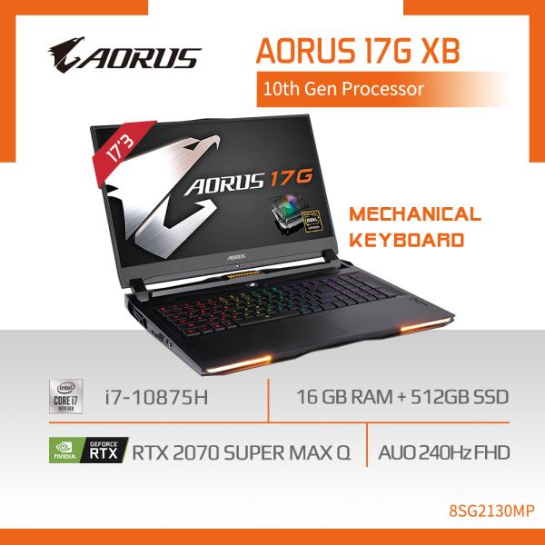 AORUS 17G XB (i7-10875H/16GB SAMSUNG DDR4 2933 (8GBx2)/GeForce RTX 2070 Super GDDR6 8GB Max-Q/512GB M.2 PCIE SSD/17.3inch Thin Bezel AUO 240Hz FHD/WINDOWS 10 PROFESSIONAL) [Ships 2-5 days]