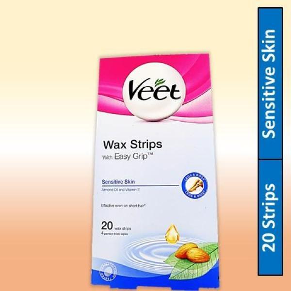 Buy Veet Sensitive Skin Wax Strips With Easy Grip (20 Wax Strips) Singapore