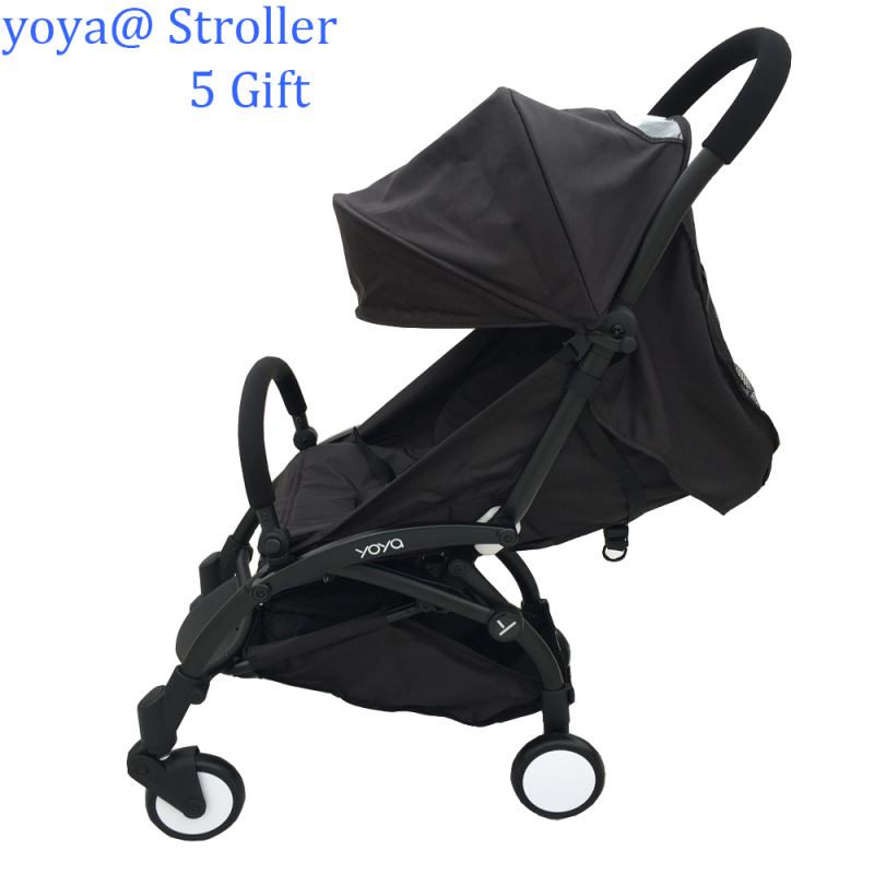 Baby Throne YOYA Cabin size Ultra Lightweight one hand fold baby stroller - Black Minnie Mickey Blue Red Singapore
