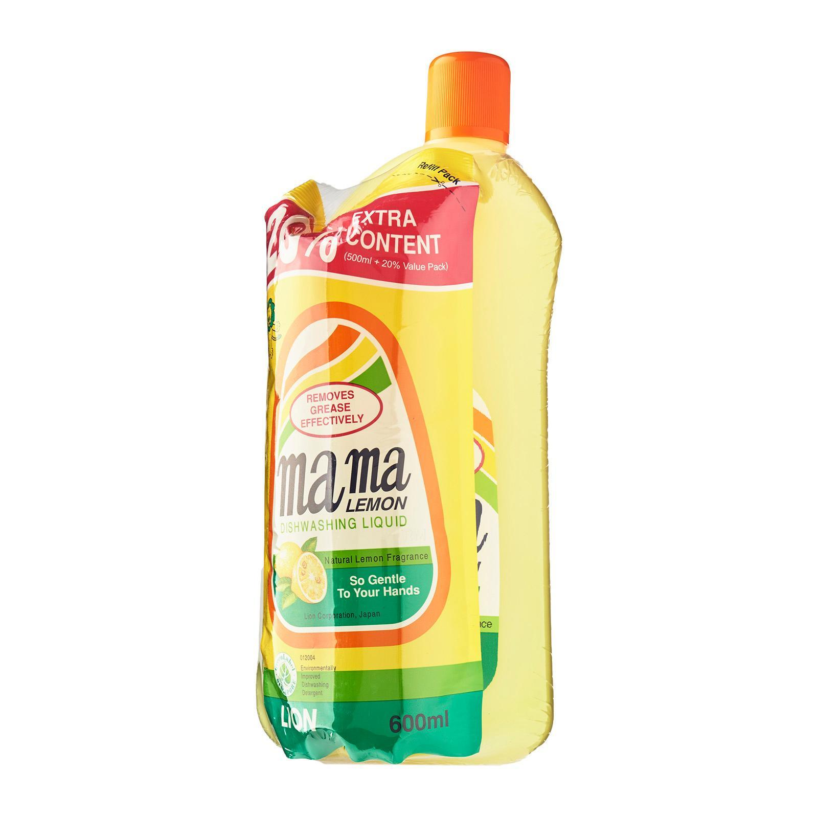 Mama Lemon Dishwashing Liquid Regular 2L Banded + 600ml Refill