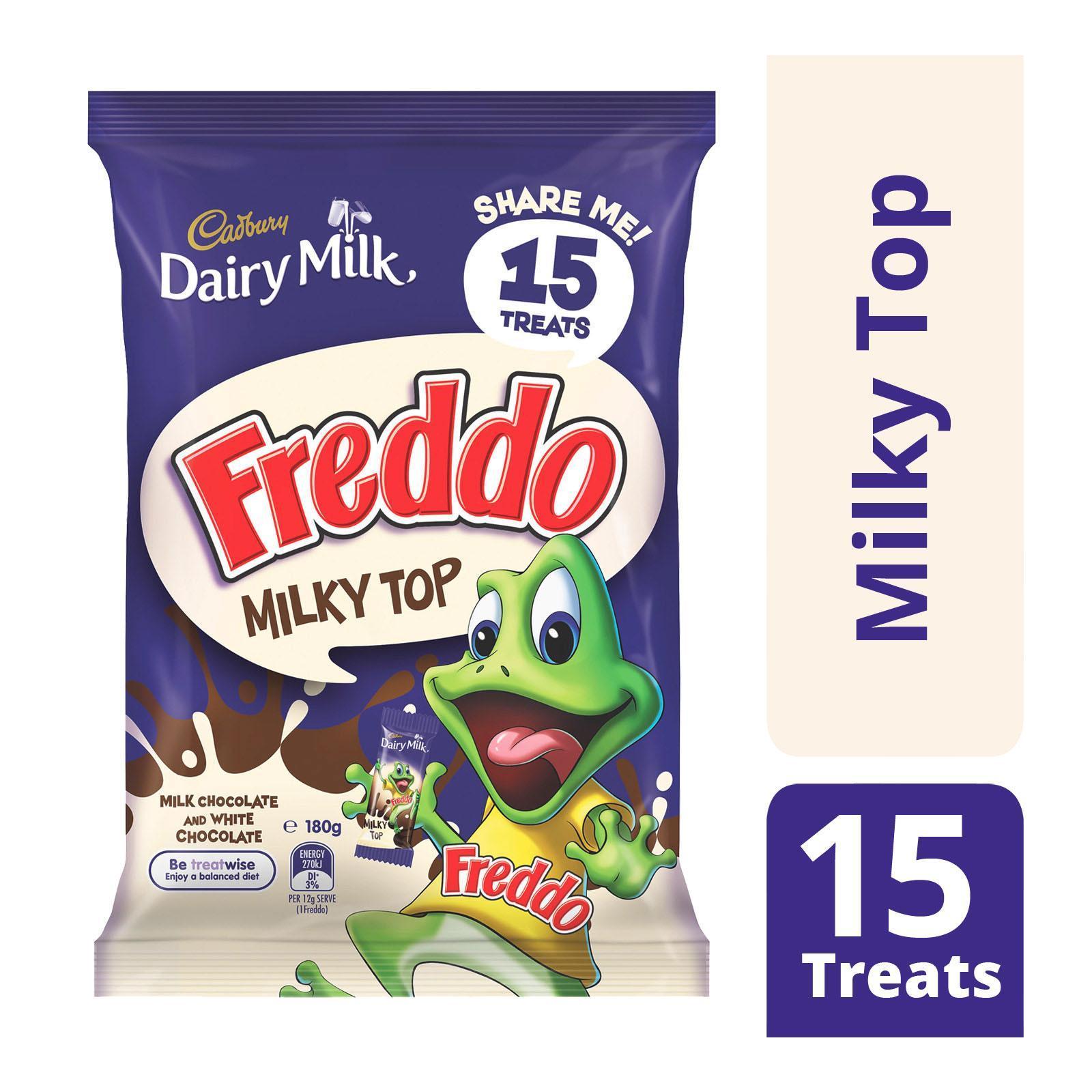 Cadbury Dairy Milk Freddo Milky Top/Milk Chocolate And White Chocolate - Multipack