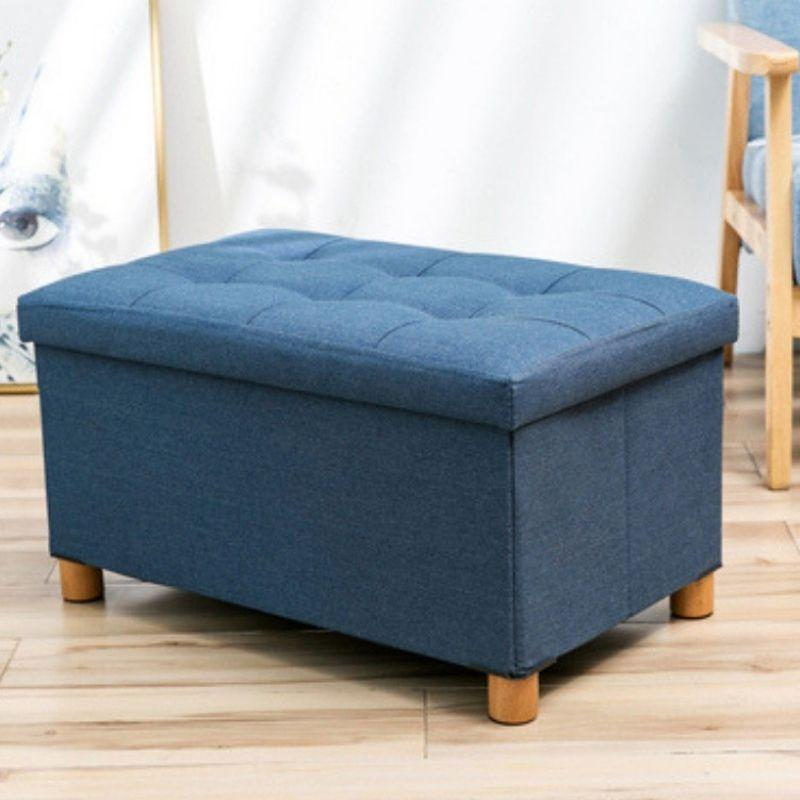 Ottoman Storage Bench for Office Living Guest Side Seat Kids Seating and Toys Storage Shoe Bench