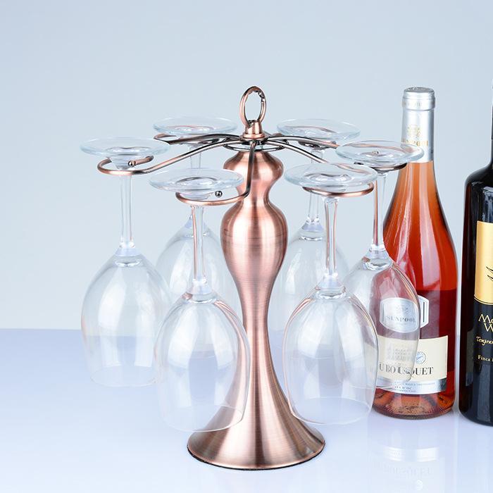 Glass Suspension Hanger European Style Wine Rack Decoration Creative Fashion Wine Glass Holder Upside down
