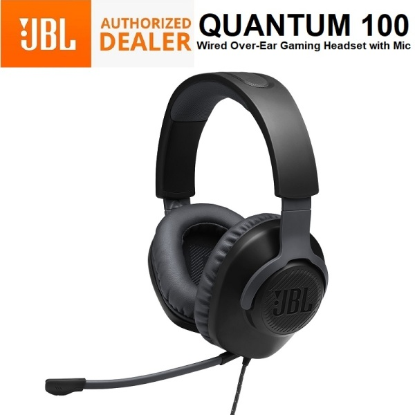JBL Quantum 100 Wired Over the Ear Gaming Headphone Headset Earphone 3.5mm with Mic Singapore