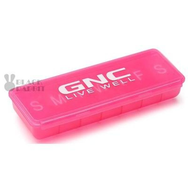 【Pill Organizer】GNC 7-day Pill Organizer (Pink / Black / White)