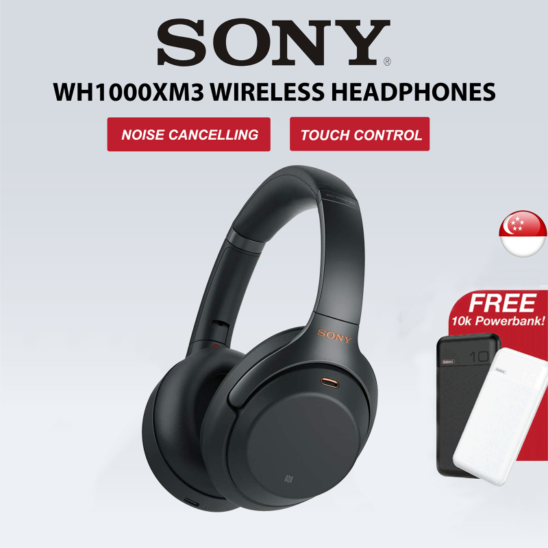 [SG] Sony WH1000XM3 Wireless Headphones, Noise Cancelling Bluetooth Over the Ear Headset – Black Singapore