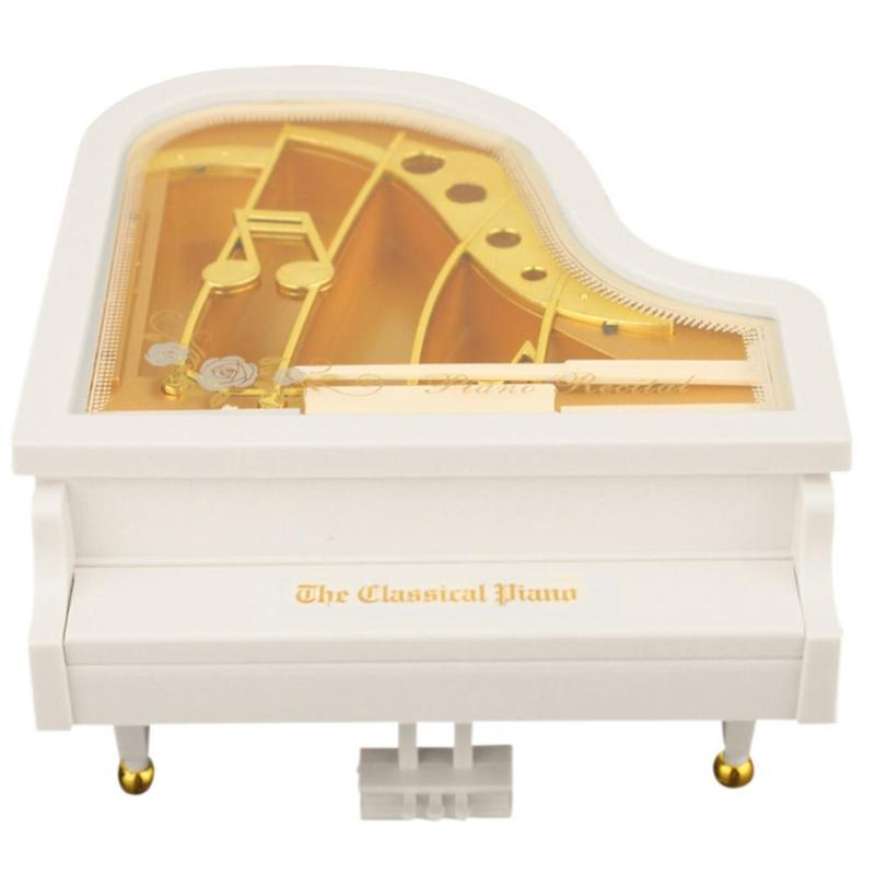 Creative Mini Piano Model Music Box Metal Antique Musical Case Wedding Gift Home Decoration New Year Gifts Music Boxes